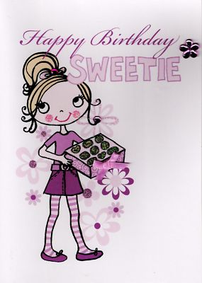 Handcrafted Gr8 3D Birthday Card Kids Girls Girl Sweetie Quality Greeting Cards