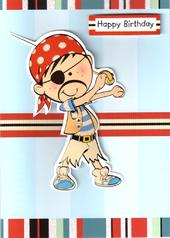 Boys Pirate Birthday Card