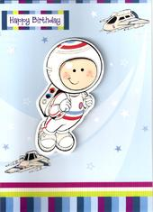 Boys Spaceman Birthday Card