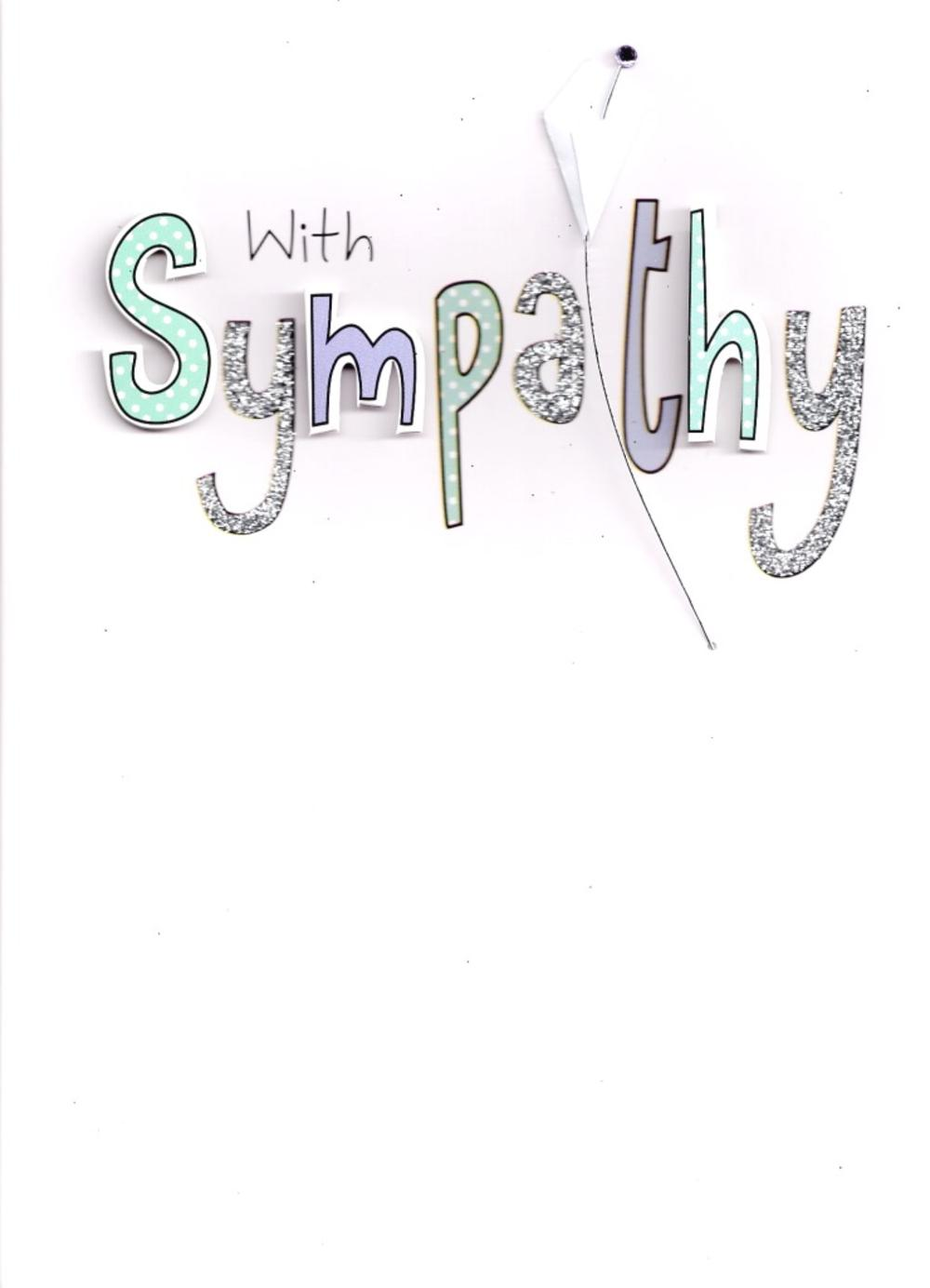 With Sympathy Card Handcrafted Greeting Card