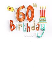 60th Birthday Handcrafted Special Greeting Card