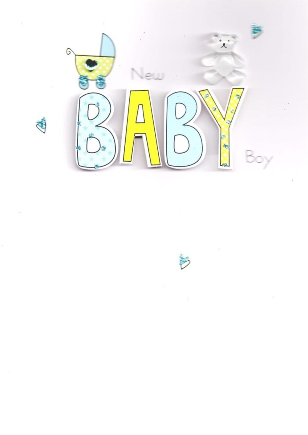 New Baby Boy Handcrafted Greeting Card
