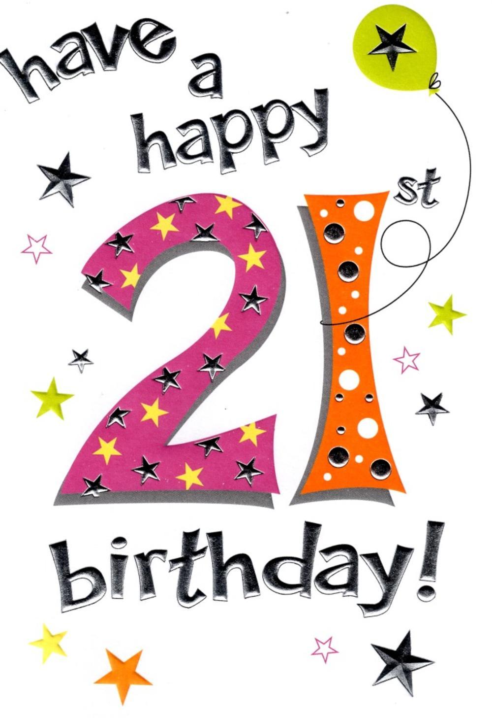 21st Lovely Female Birthday Card