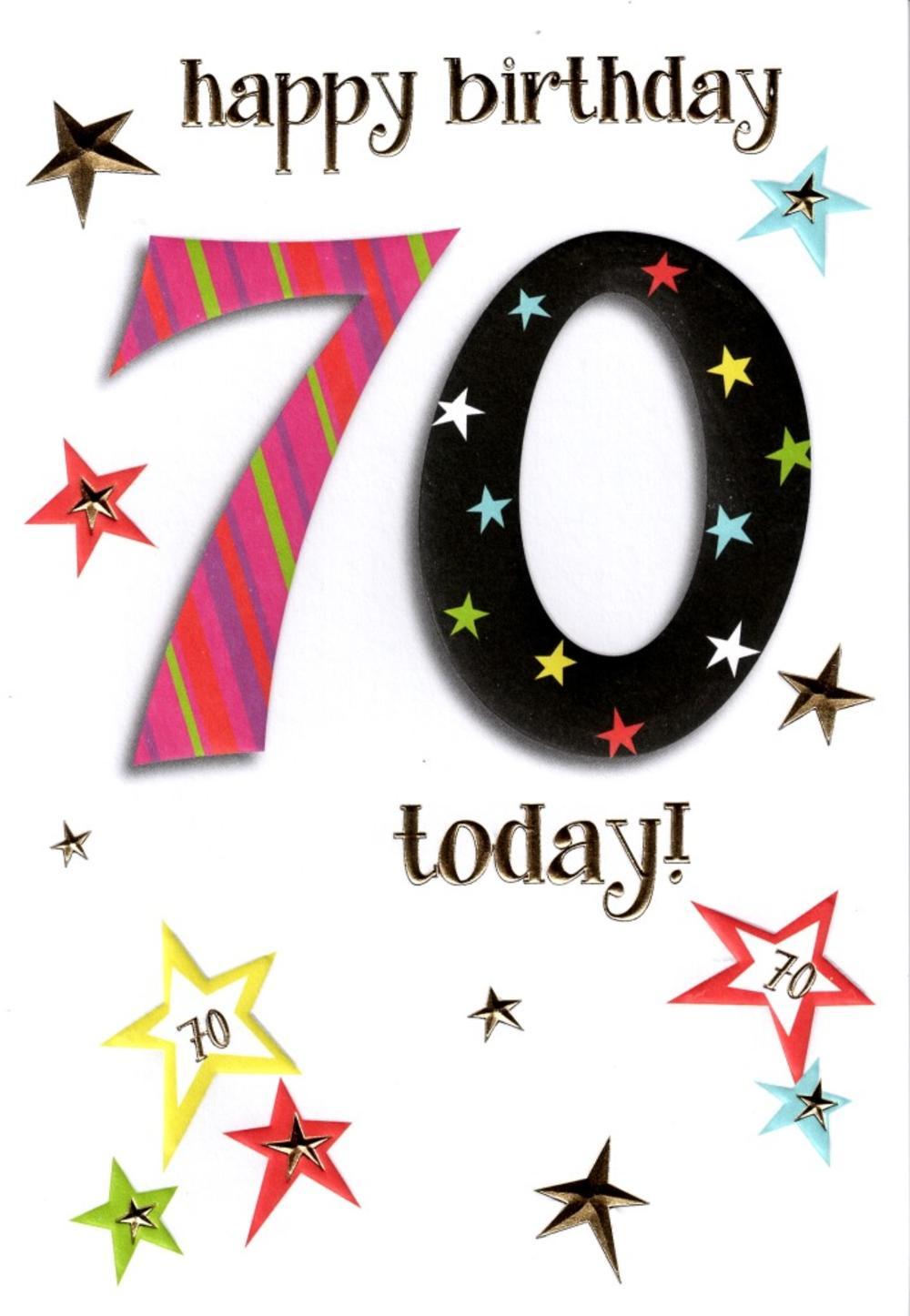 70th Lovely Female Birthday Card