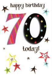70th Lovely Female Birthday Card