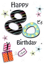 80th Lovely Female Birthday Card