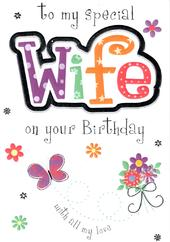 Special Wife Birthday Card