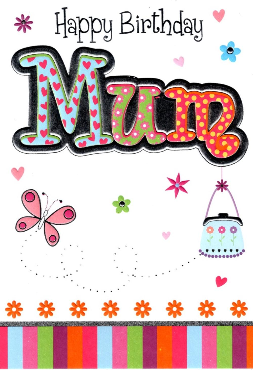 Mum Lovely Birthday Card