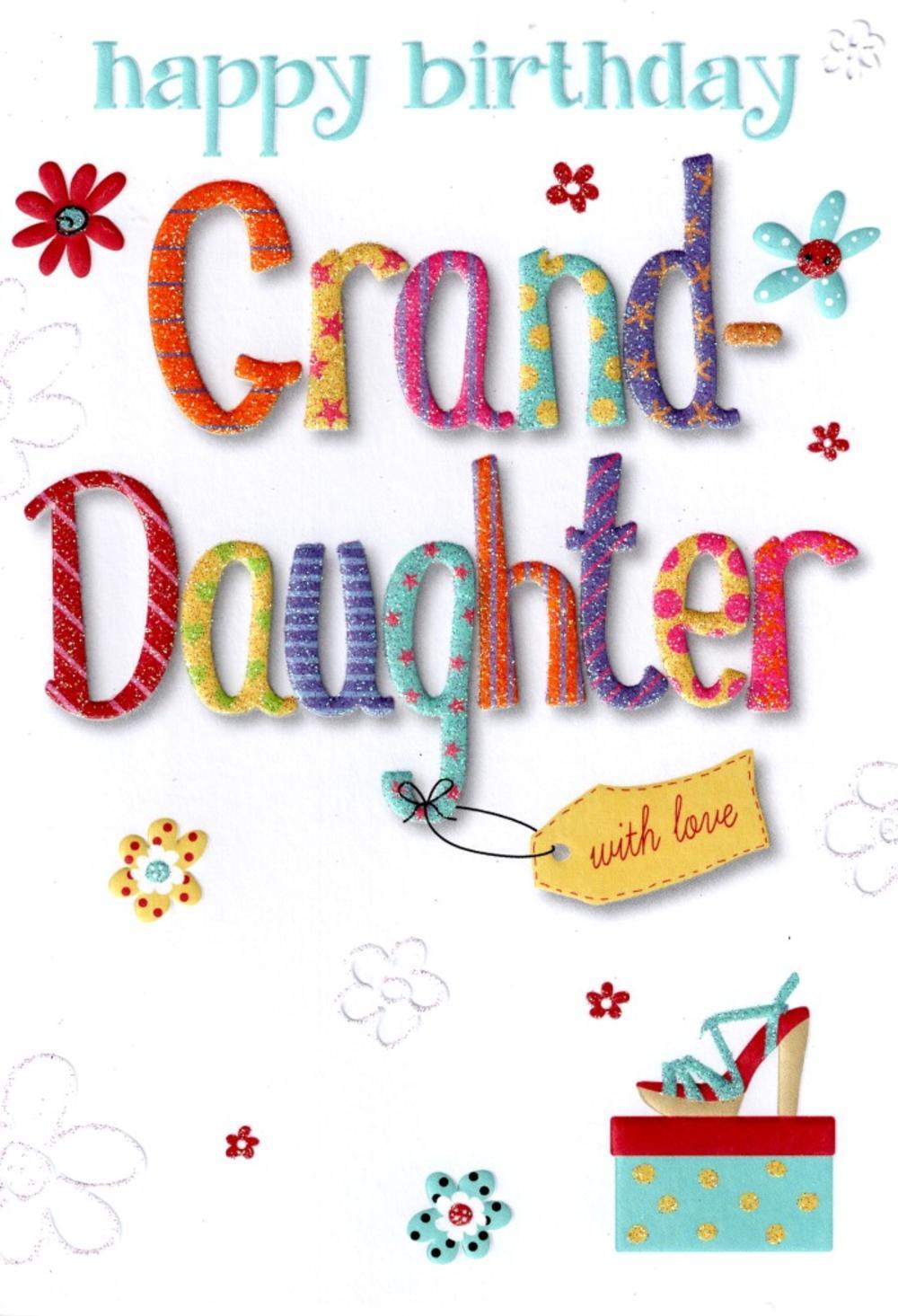 Granddaughter Lovely Birthday Card