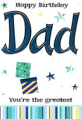 Dad Lovely Birthday Card