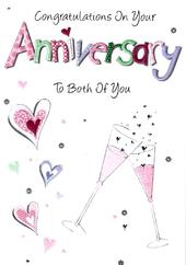 Lovely Anniversary Congratulations Greeting Card
