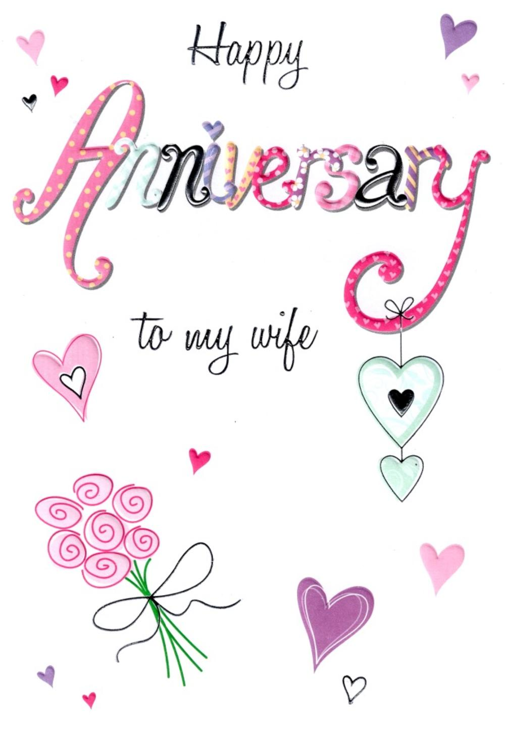 Wife our anniversary greeting card cards love kates