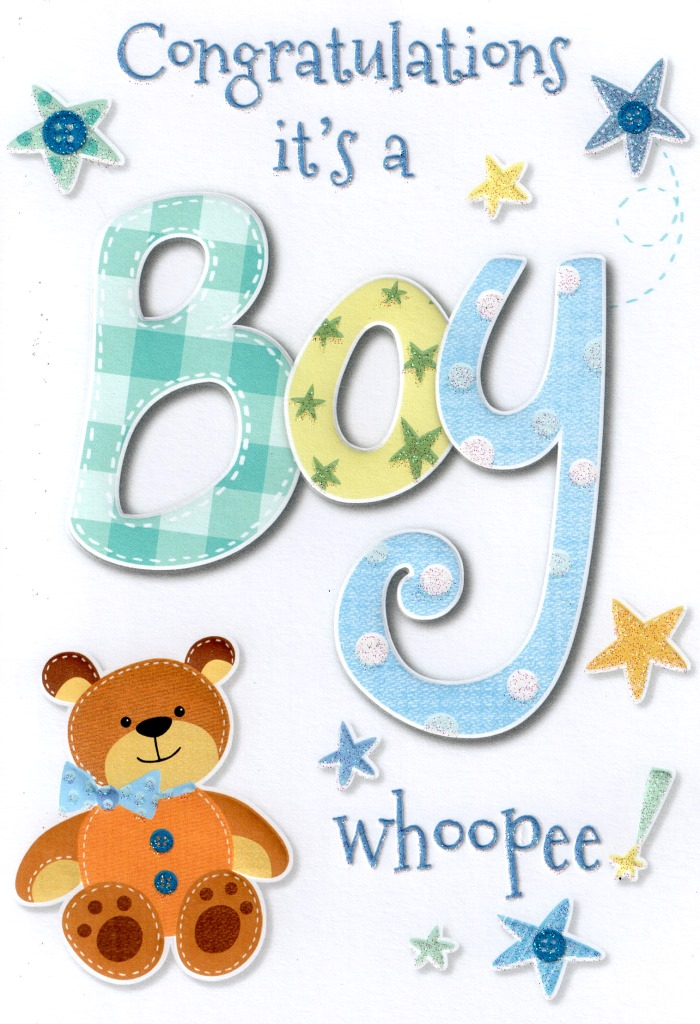 new baby boy card lovely cello wrapped congratulations