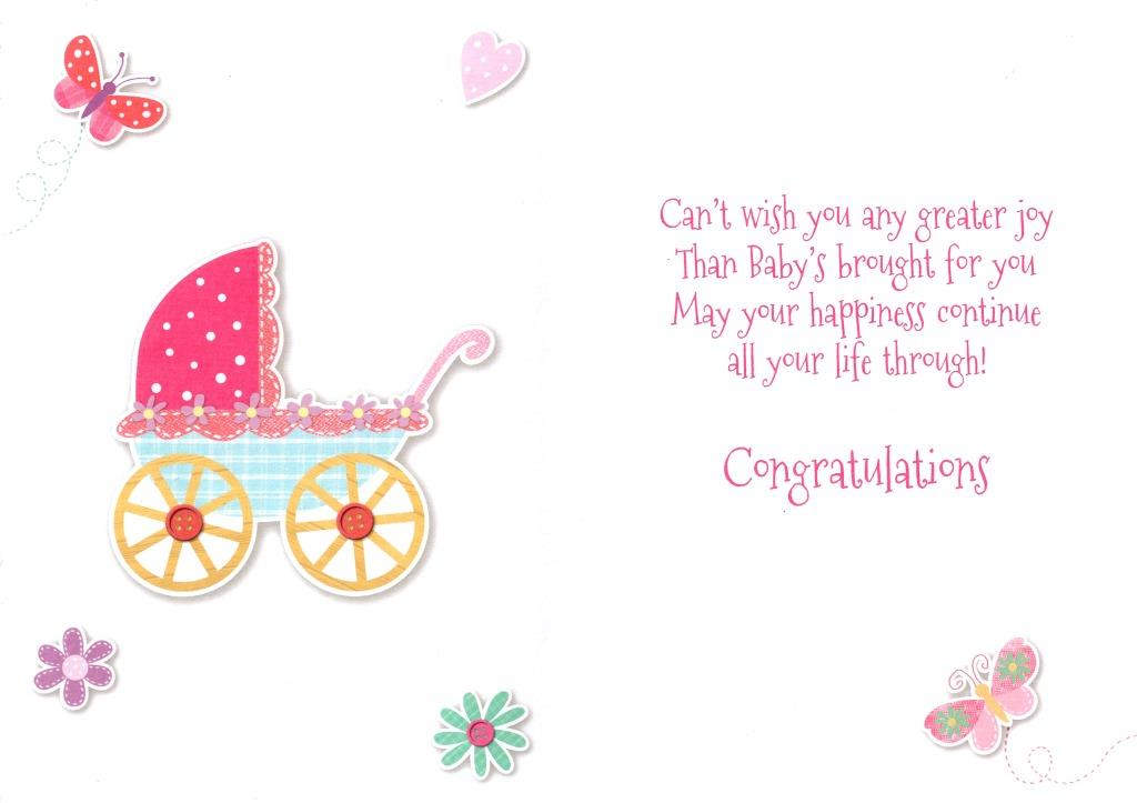 New baby girl card lovely cello wrapped congratulations greeting sentinel new baby girl card lovely cello wrapped congratulations greeting cards new m4hsunfo