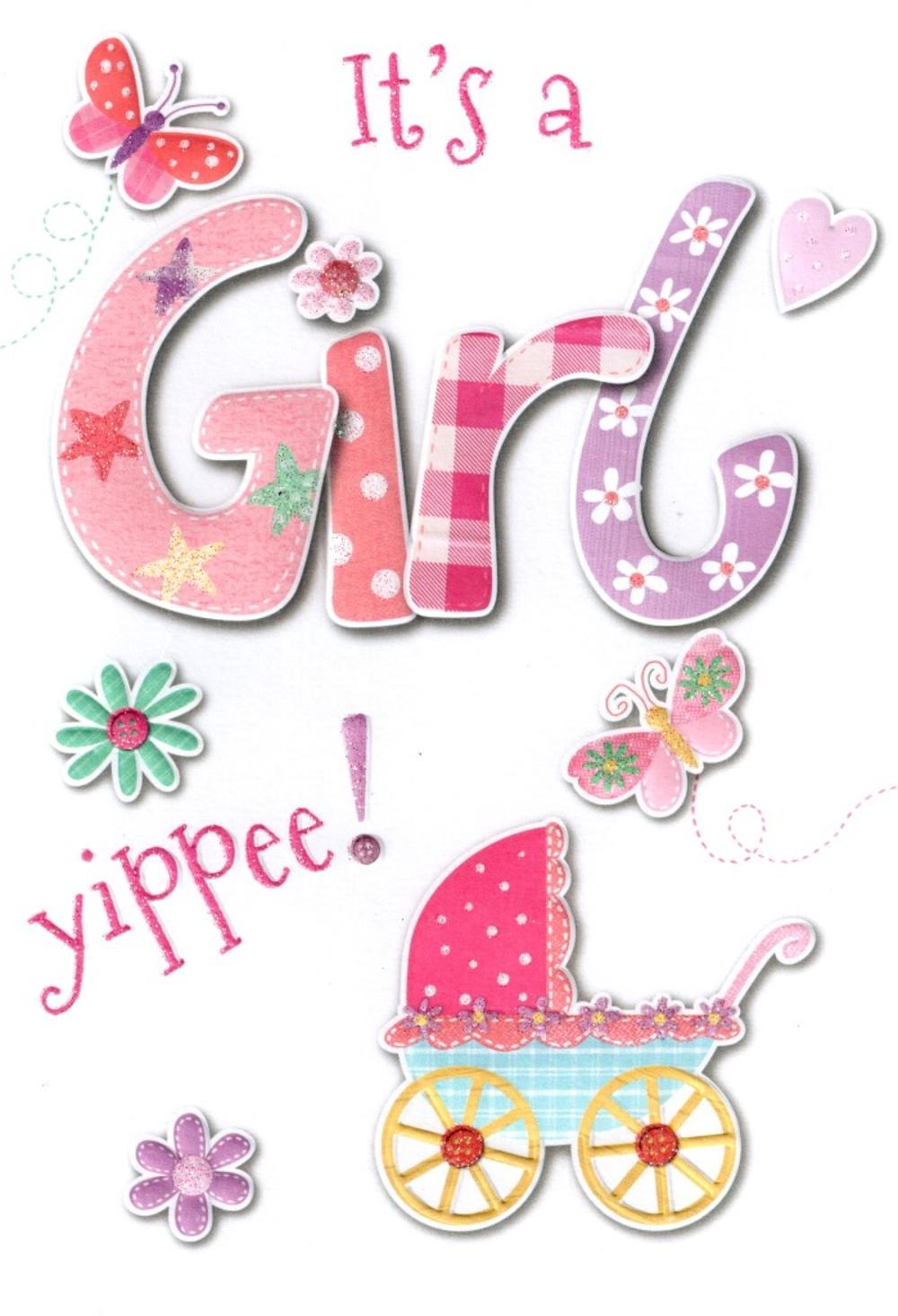 Lovely New Baby Girl Card