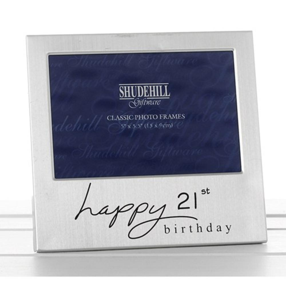 "Happy 21st Birthday 5"" x 3.5"" Photo Frame By Shudehill"