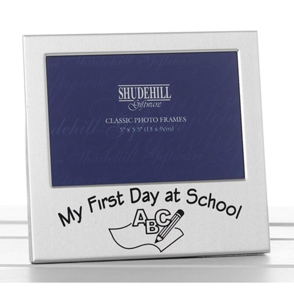 "My First Day At School 5"" x 3.5"" Photo Frame By Shudehill"