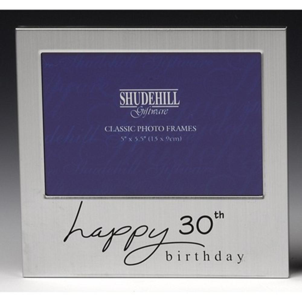 "Happy 30th Birthday 5"" x 3.5"" Photo Frame By Shudehill"