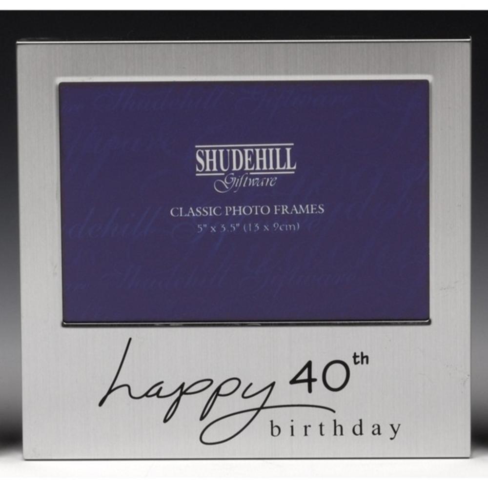 "Happy 40th Birthday 5"" x 3.5"" Photo Frame By Shudehill"