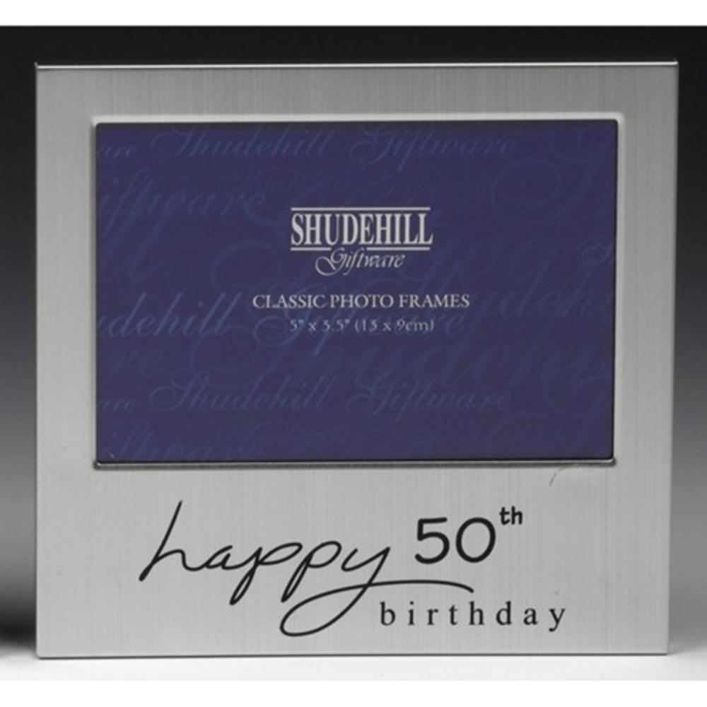 "Happy 50th Birthday 5"" x 3.5"" Photo Frame By Shudehill"