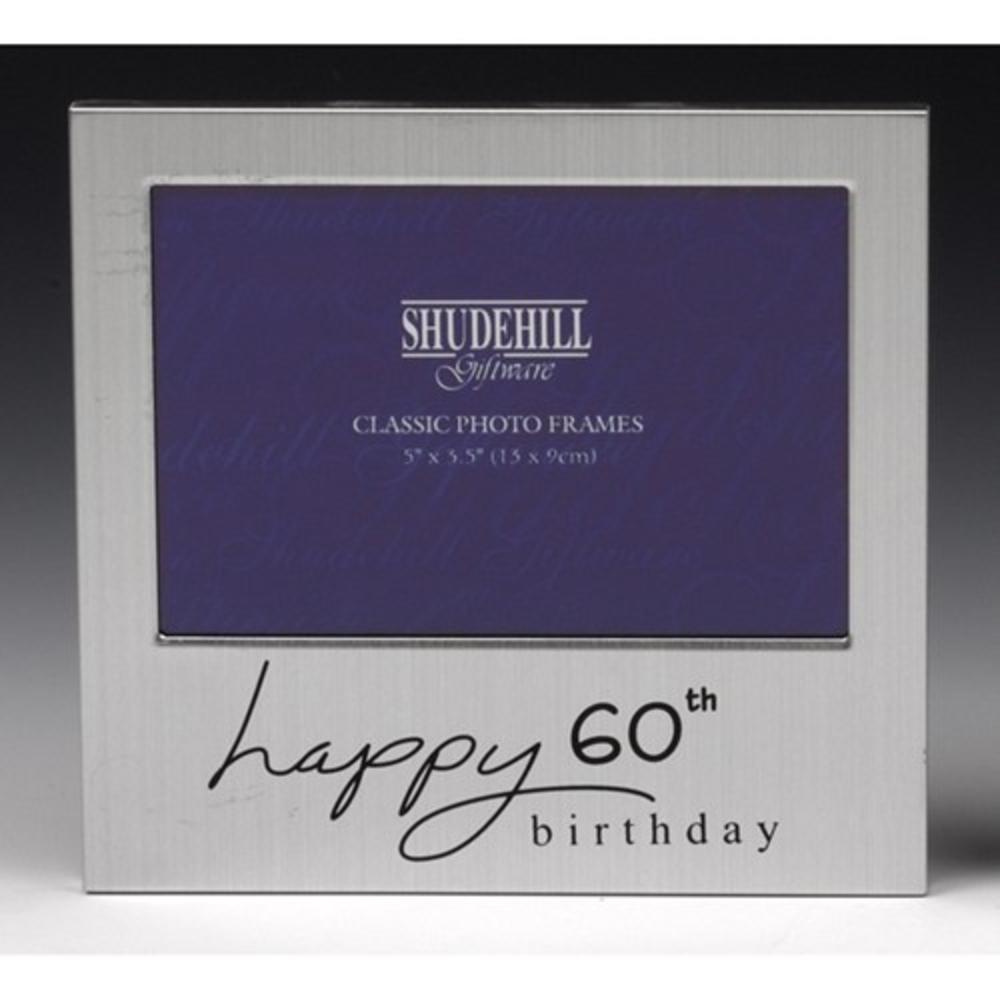 "Happy 60th Birthday 5"" x 3.5"" Photo Frame By Shudehill"