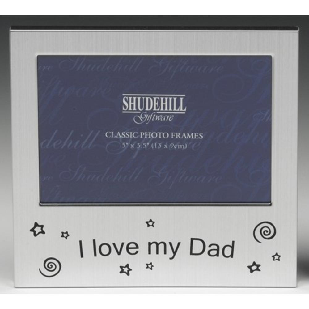 "I Love My Dad 5"" x 3.5"" Photo Frame By Shudehill"
