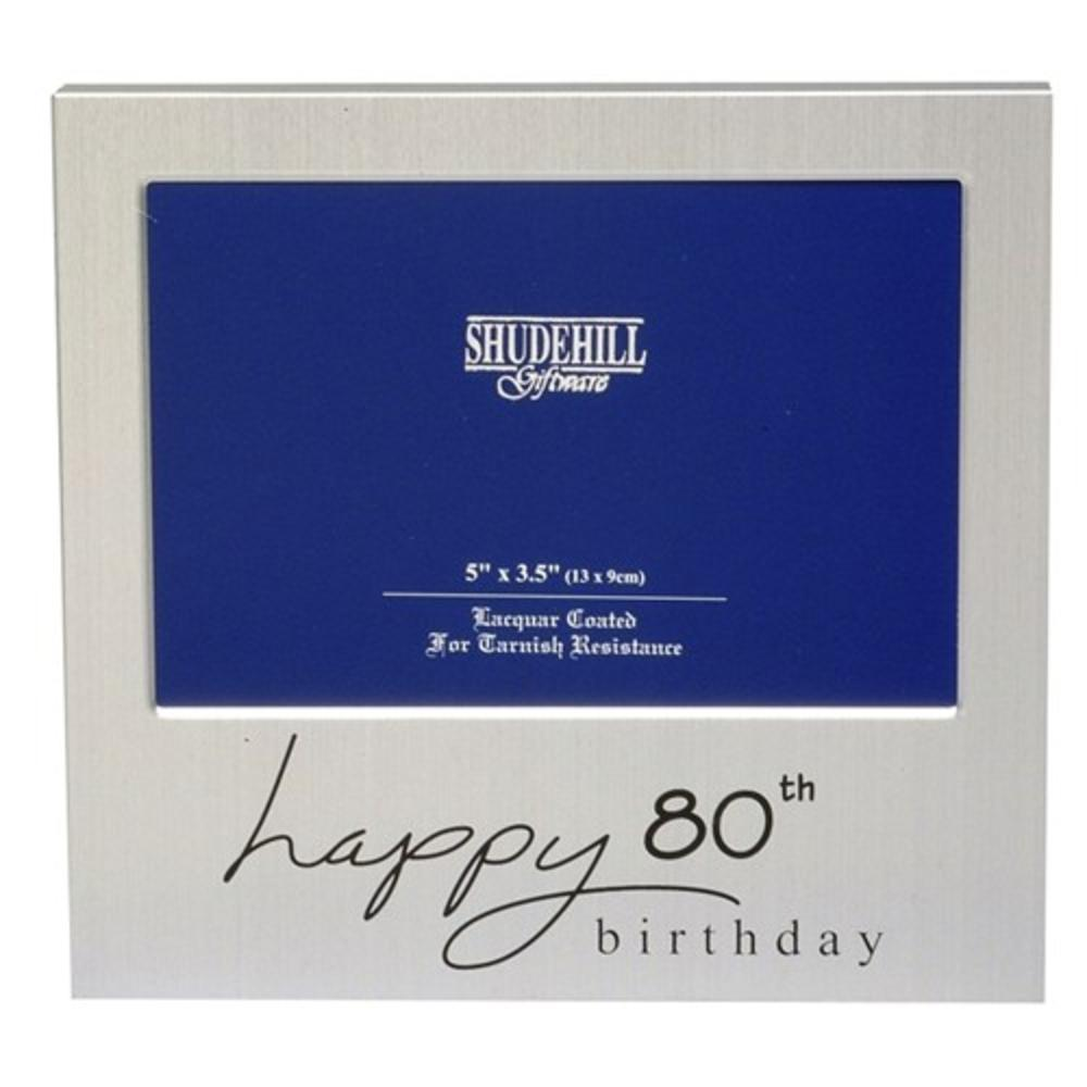 "Happy 80th Birthday 5"" x 3.5"" Photo Frame By Shudehill"