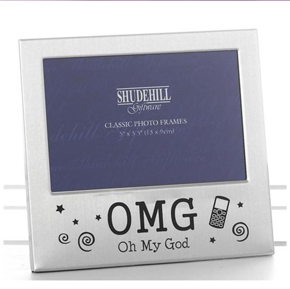 """Omg Oh My God 5"""" x 3.5"""" Photo Frame By Shudehill"""