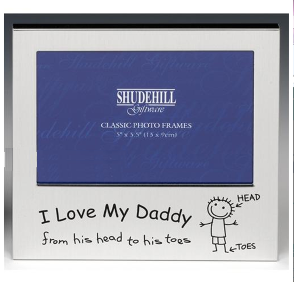"I Love My Daddy 5"" X 3.5"" Aluminium Photo Frame Picture Frames Gift Idea"