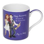Anniversary China Mug In Gift Box