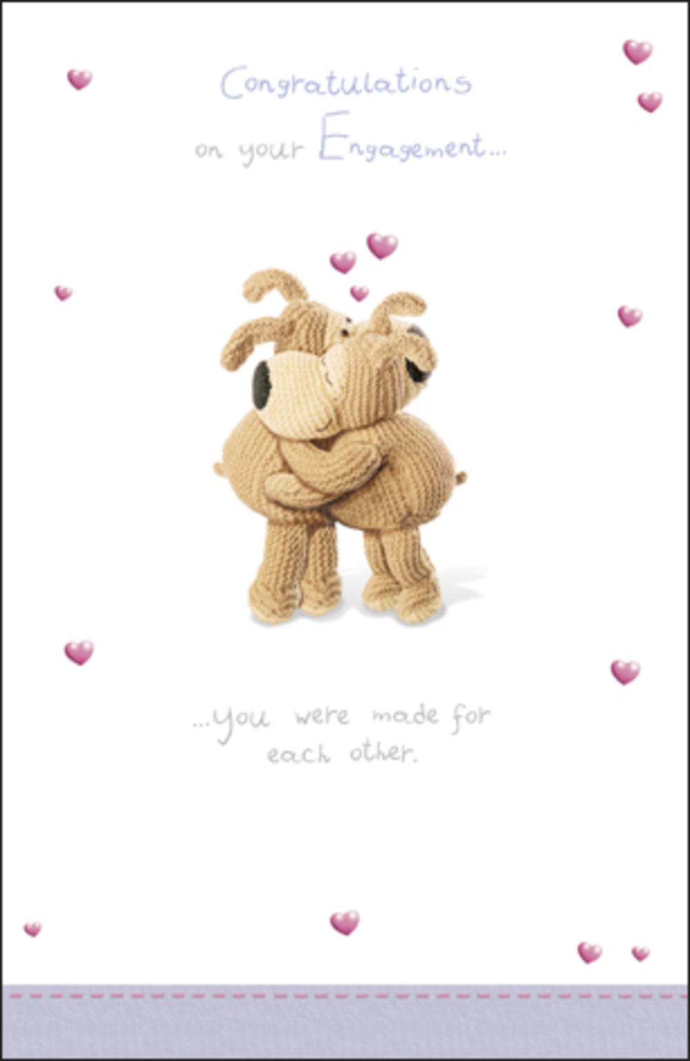 Boofle Congratulations Engagement Card
