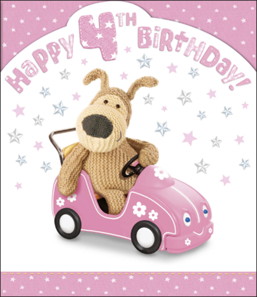 Boofle 4th Happy Birthday Card Girl