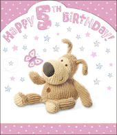 Boofle 5th Happy Birthday Card Girl