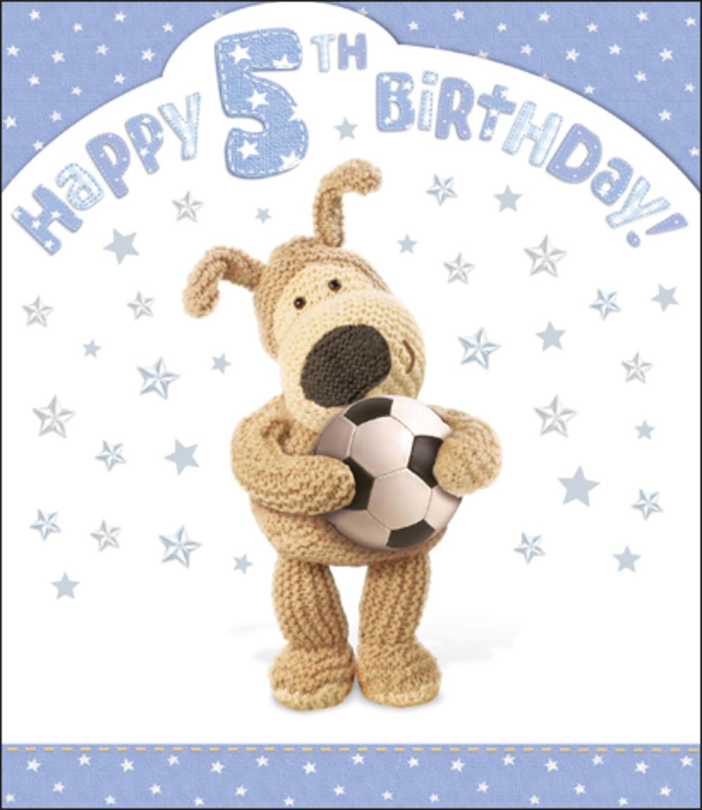 Boofle 5th Happy Birthday Card Boy
