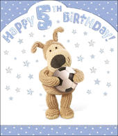 Boofle 5th Happy Birthday Card Boy
