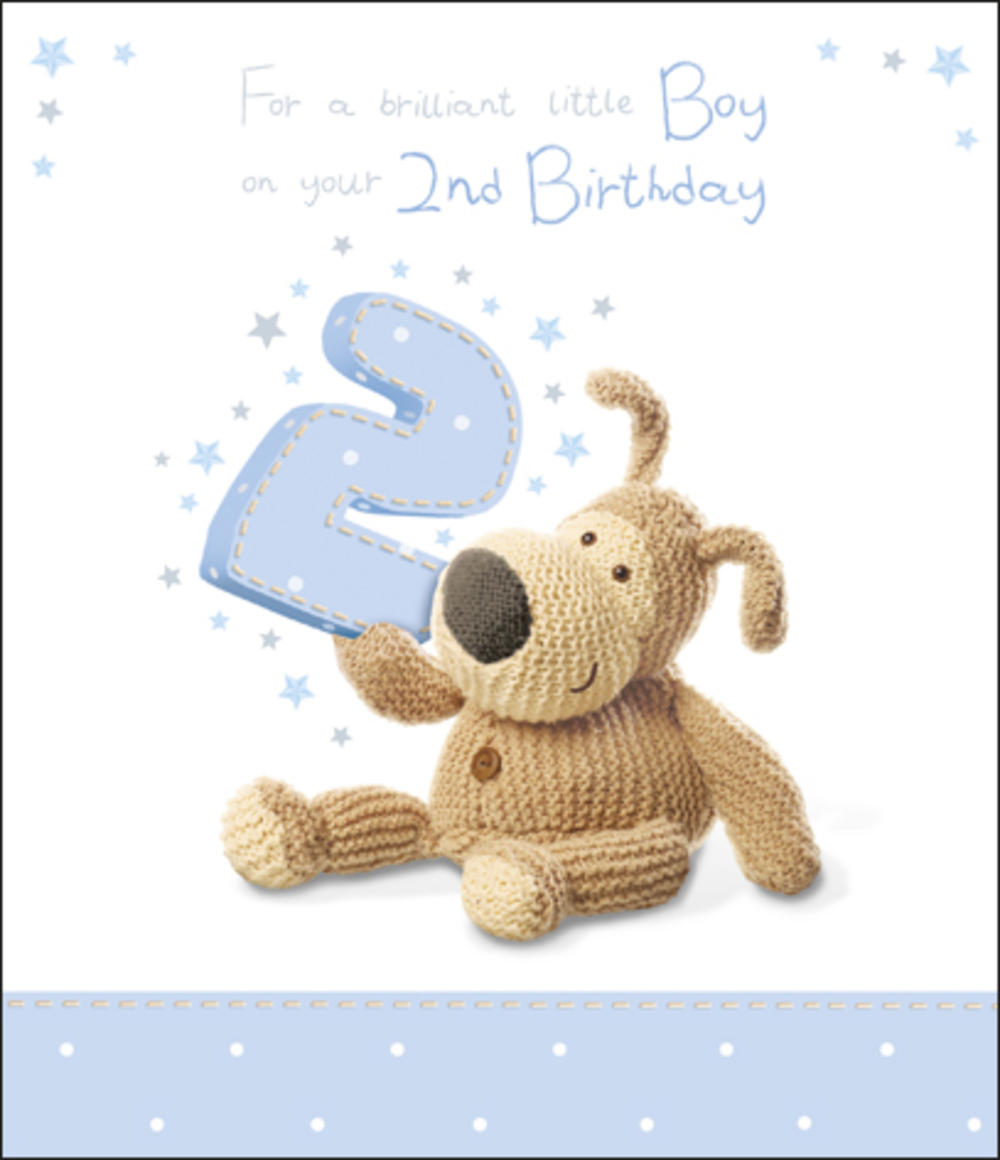 Boofle 2nd Happy Birthday Card Boy Cards – Happy 2nd Birthday Card