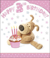 Boofle 3rd Happy Birthday Card Girl