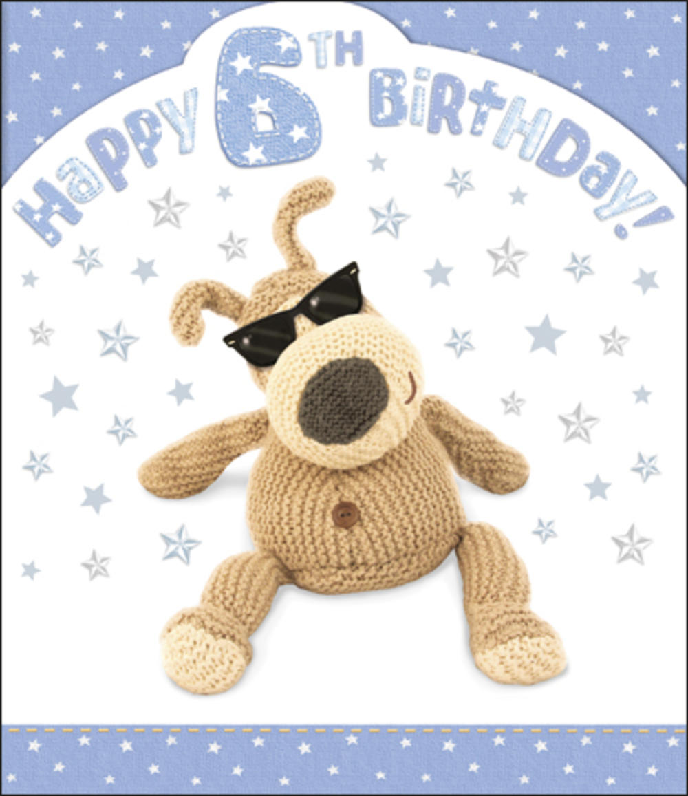 Boofle 6th Happy Birthday Card Boy