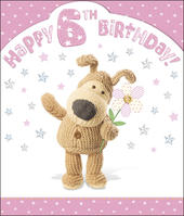 Boofle 6th Happy Birthday Card Girl