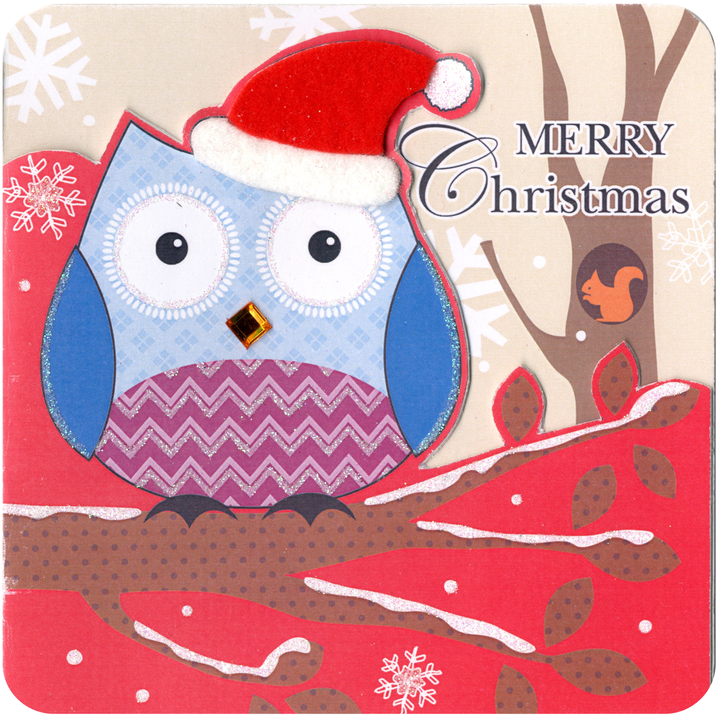 Box of 5 Owl Christmas Cards Hand Finished | Cards