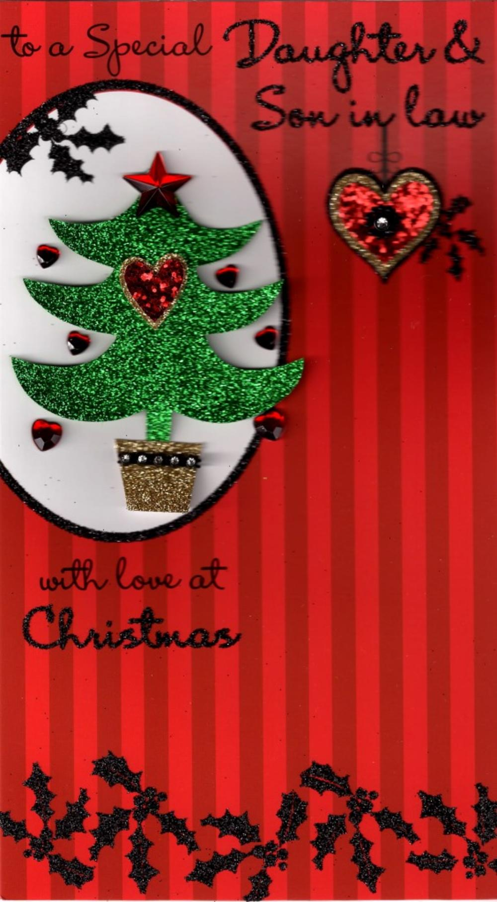 Daughter & Son-In-Law Luxury Handmade Christmas Card
