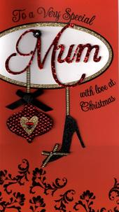 To a Very Special Mum Luxury Handmade Christmas Card