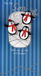 For You Son Luxury Handmade Christmas Card