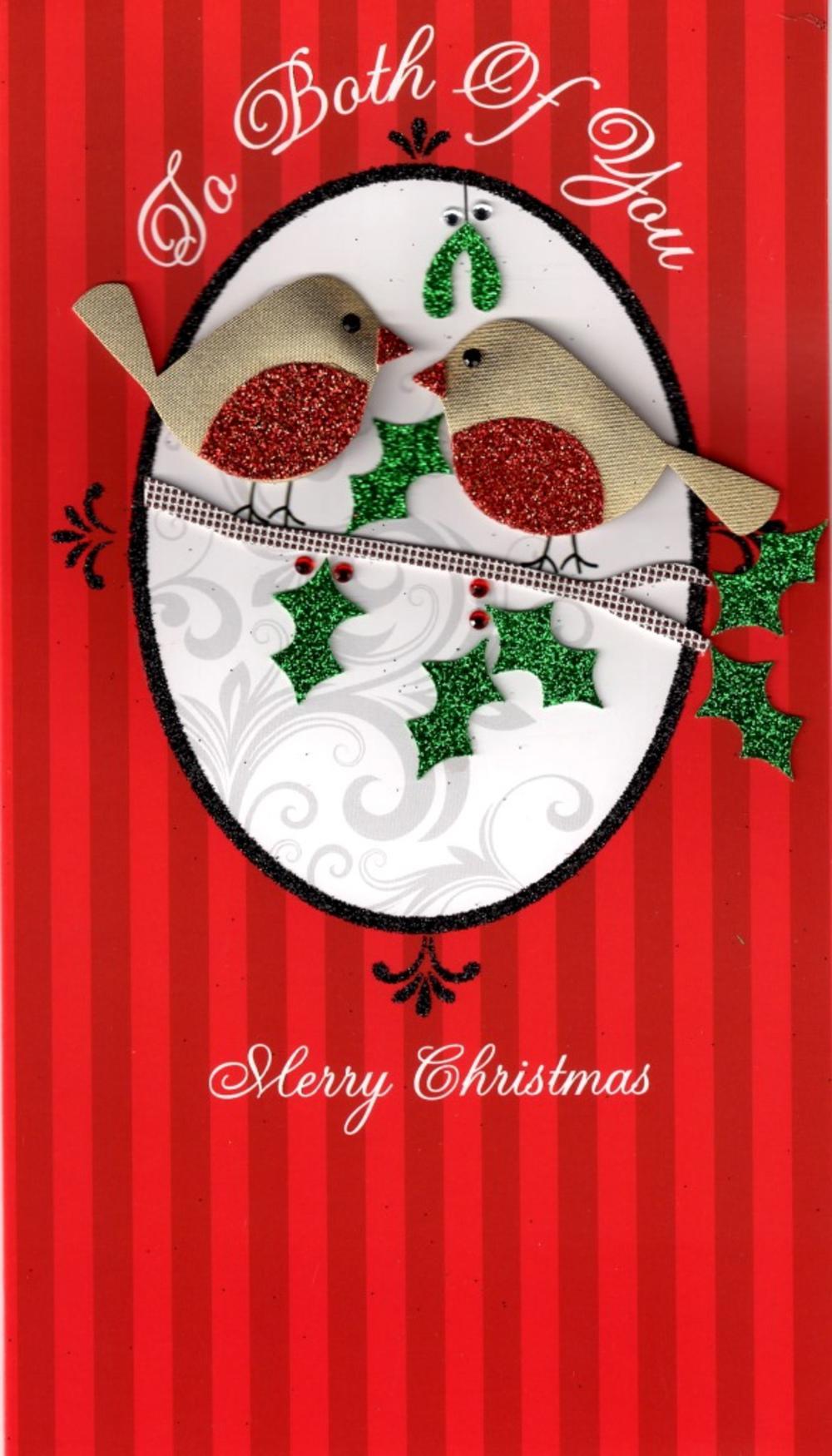To Both of You Luxury Handmade Christmas Card