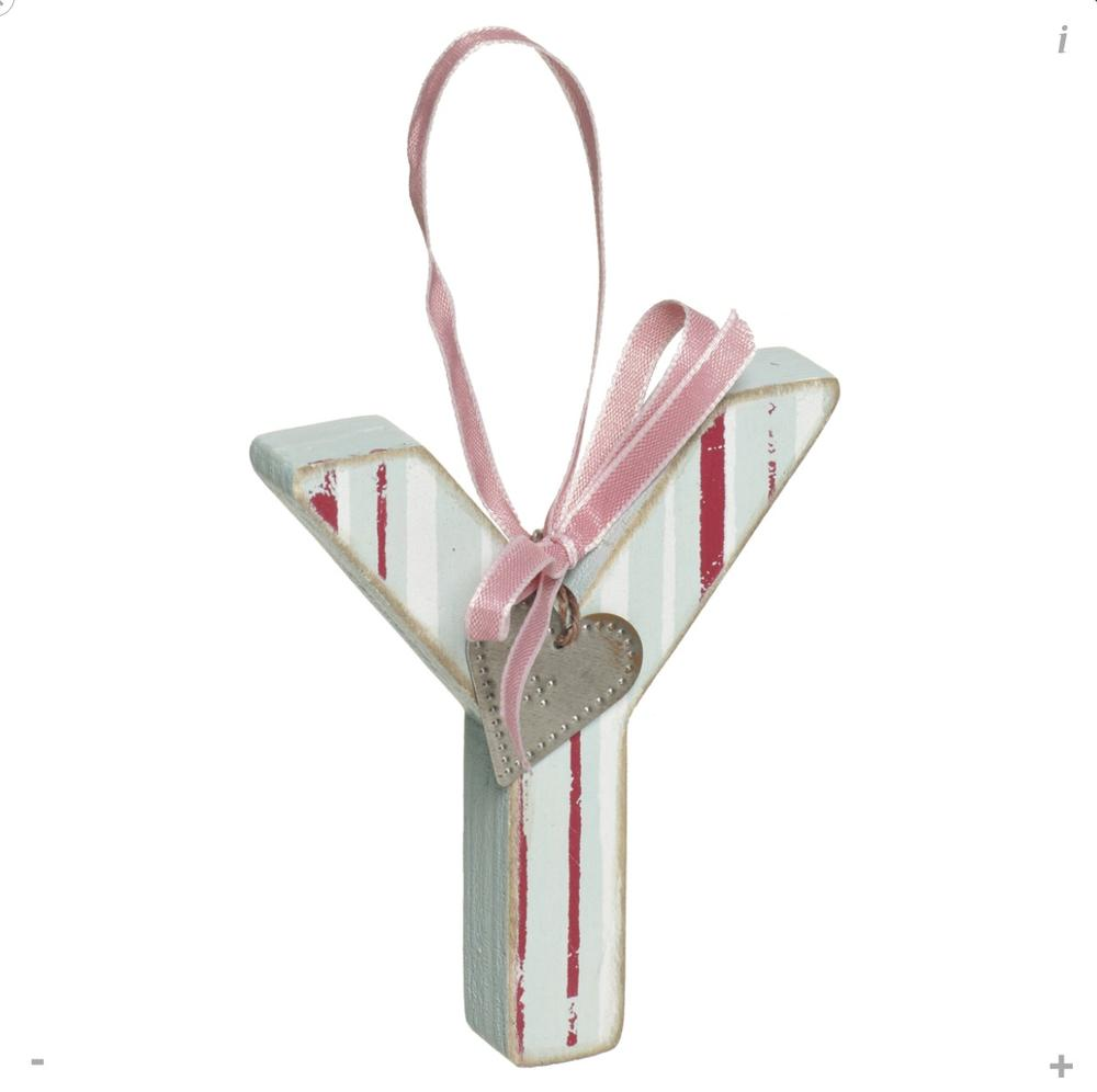 Letter Y Shabby Wooden Love Home Hanging Letters