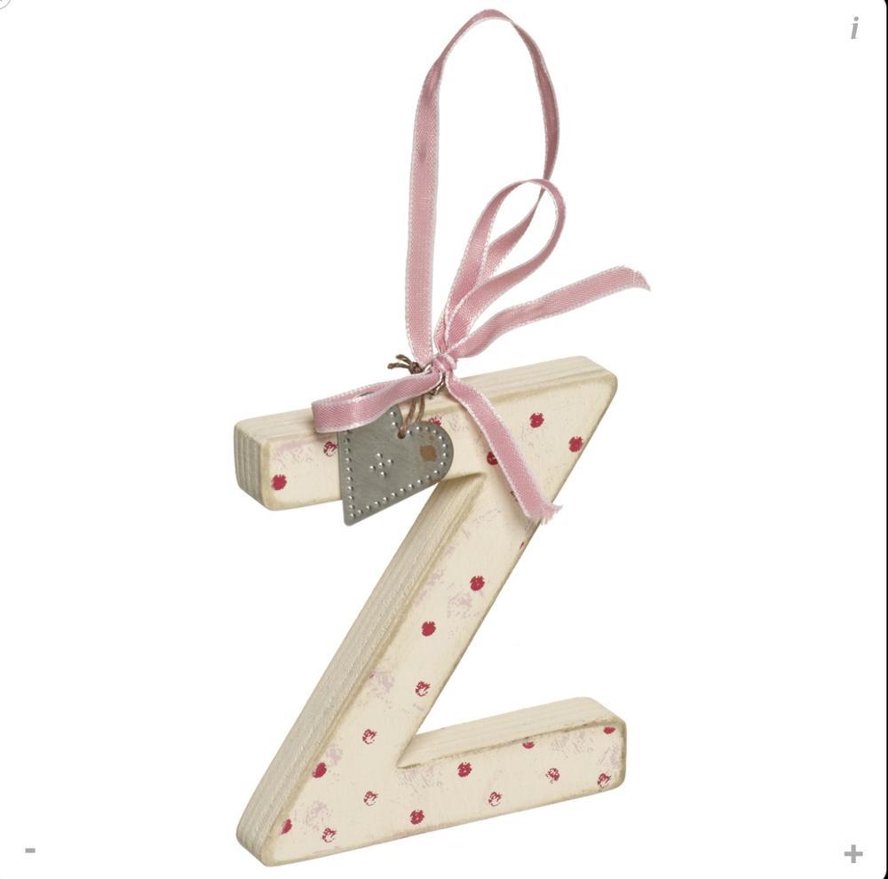 Letter Z Shabby Wooden Love Home Hanging Letters