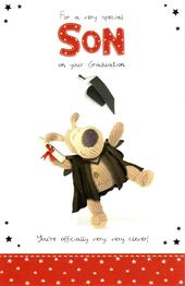 Boofle Son On Graduation Congratulations Card
