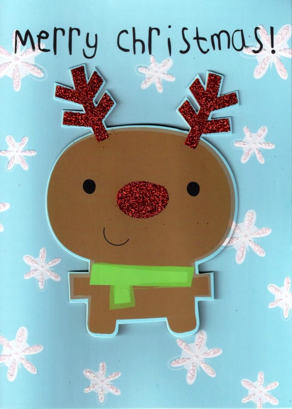 Rudolph Hand Finished Christmas Card
