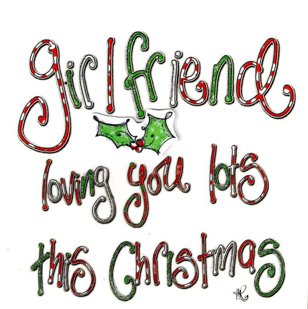 Girlfriend Christmas Card Luxury Tracey Russell Cards