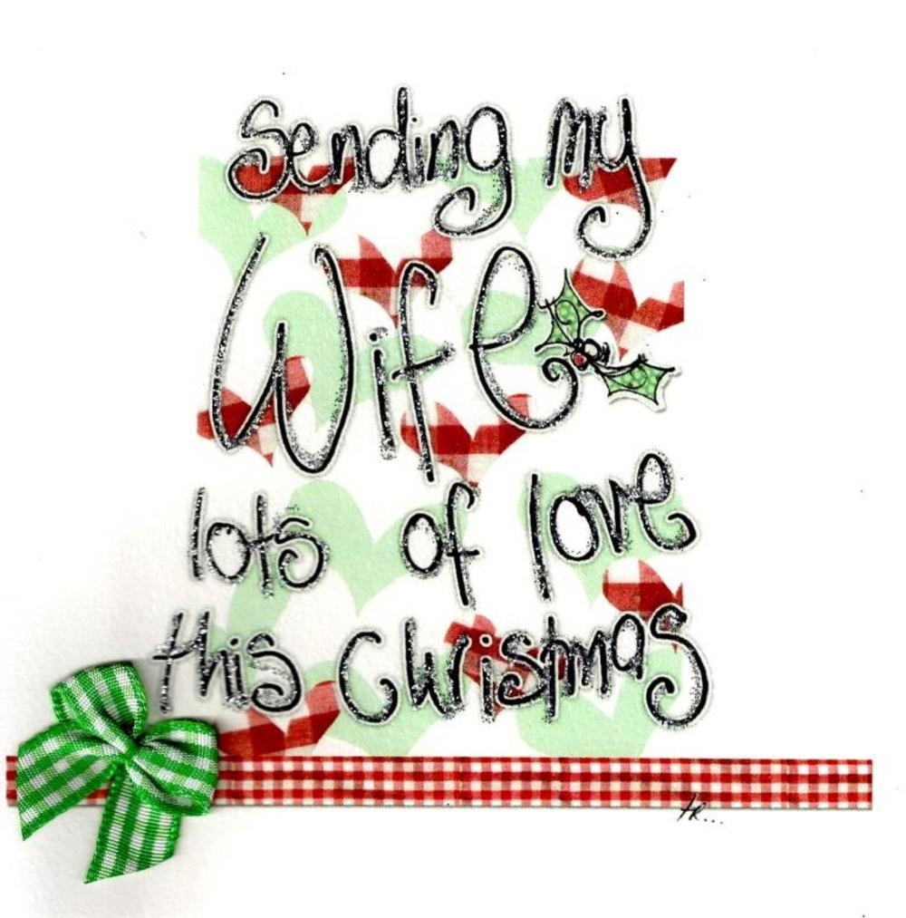 Lots of Love Wife At Christmas Card Luxury Tracey Russell Cards